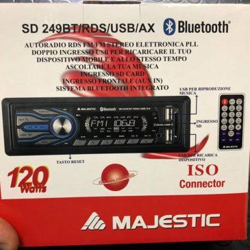 STEREO AUTORADIO AUTO MAJESTIC INGRESSO USB BLUETOOTH