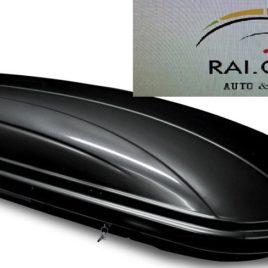 BOX AUTO BAULE DA TETTO MENABO MARATHON 460 NERO