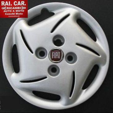SET 4 COPRICERCHI AUTO FIAT 600 LOGO BLU O ROSSO R13