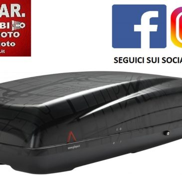 BOX AUTO BAULE DA TETTO G3 HELIOS 480 NERO ROAD