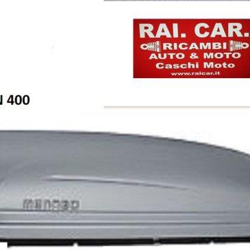 BOX AUTO BAULE DA TETTO MENABO MARATHON 400 SILVER