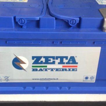 BATTERIA AUTO ZETA 105AH 830 SPUNTO MAGGIORATO MODELLO BASSO MERCEDES AUDI BMW