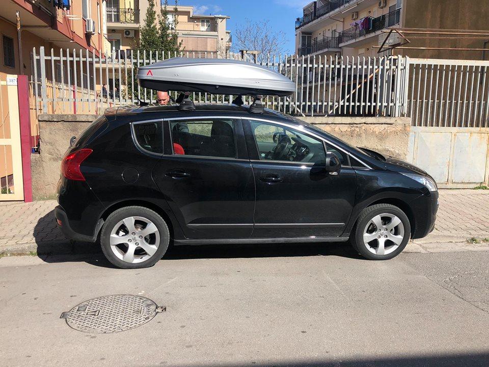 BOX SPARK 520 SILVER BARRE PORTATUTTO PEUGEOT 3008 | RAI.CAR.