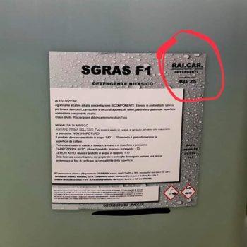 SGRAS F1 SCHEDA